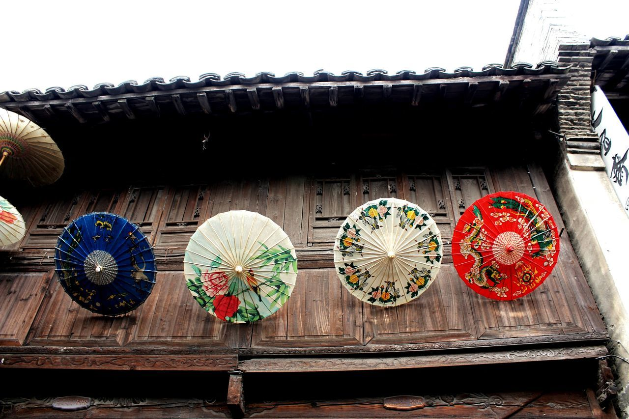 low angle view, cultures, wood - material, no people, day, outdoors