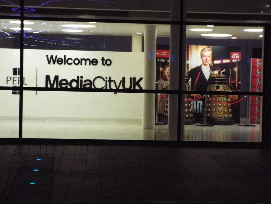 Dr Who Darlek Media City Salford Salford Quays Salford United Kingdom BBC Television Studios Bbc One
