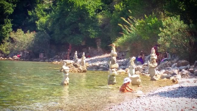It was built by an amazing talented man Sculpture Beach Olympos Beach