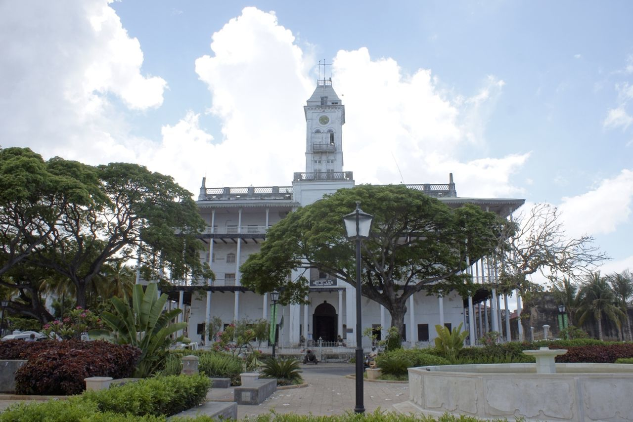 Architecture Building Exterior Built Structure Church Clock Clock Tower Day Famous Place International Landmark Low Angle View Outdoors Place Of Worship Religion Spirituality Tower Zanzibar