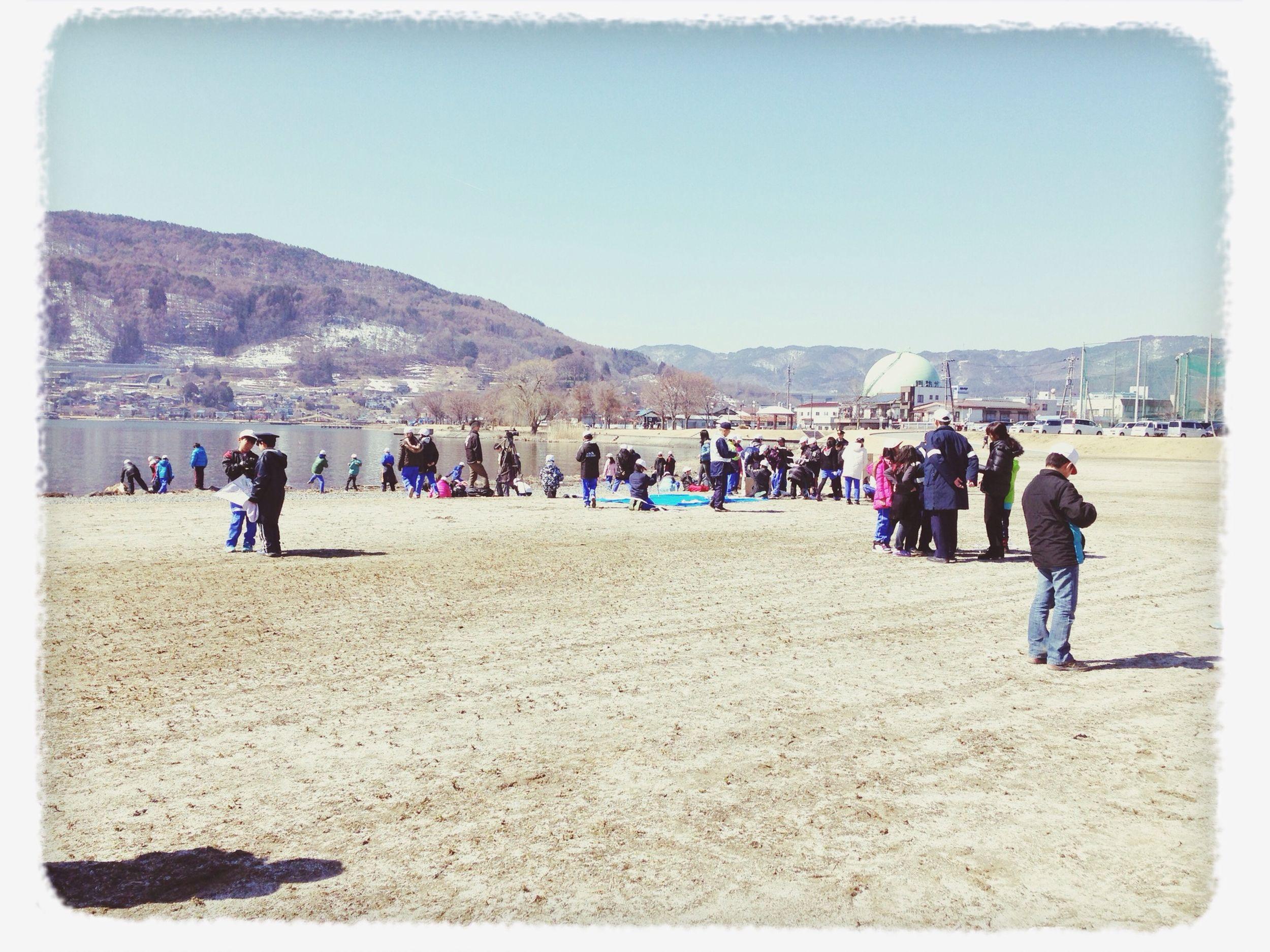 長男の授業で凧揚げ来たけど、風なくて上がらず…。