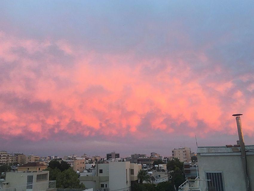 Amazing clouds at sunset Cyprus Sunset Pinkskysunset Holiday HotelCalifornia