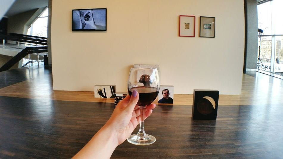 Wine Not Photography Themes One Person Human Hand Holding Smartphonephotography Human Body Part PhonePhotography Wineglass Exposition France Art Contemporary Art Photo Exhibition Riga