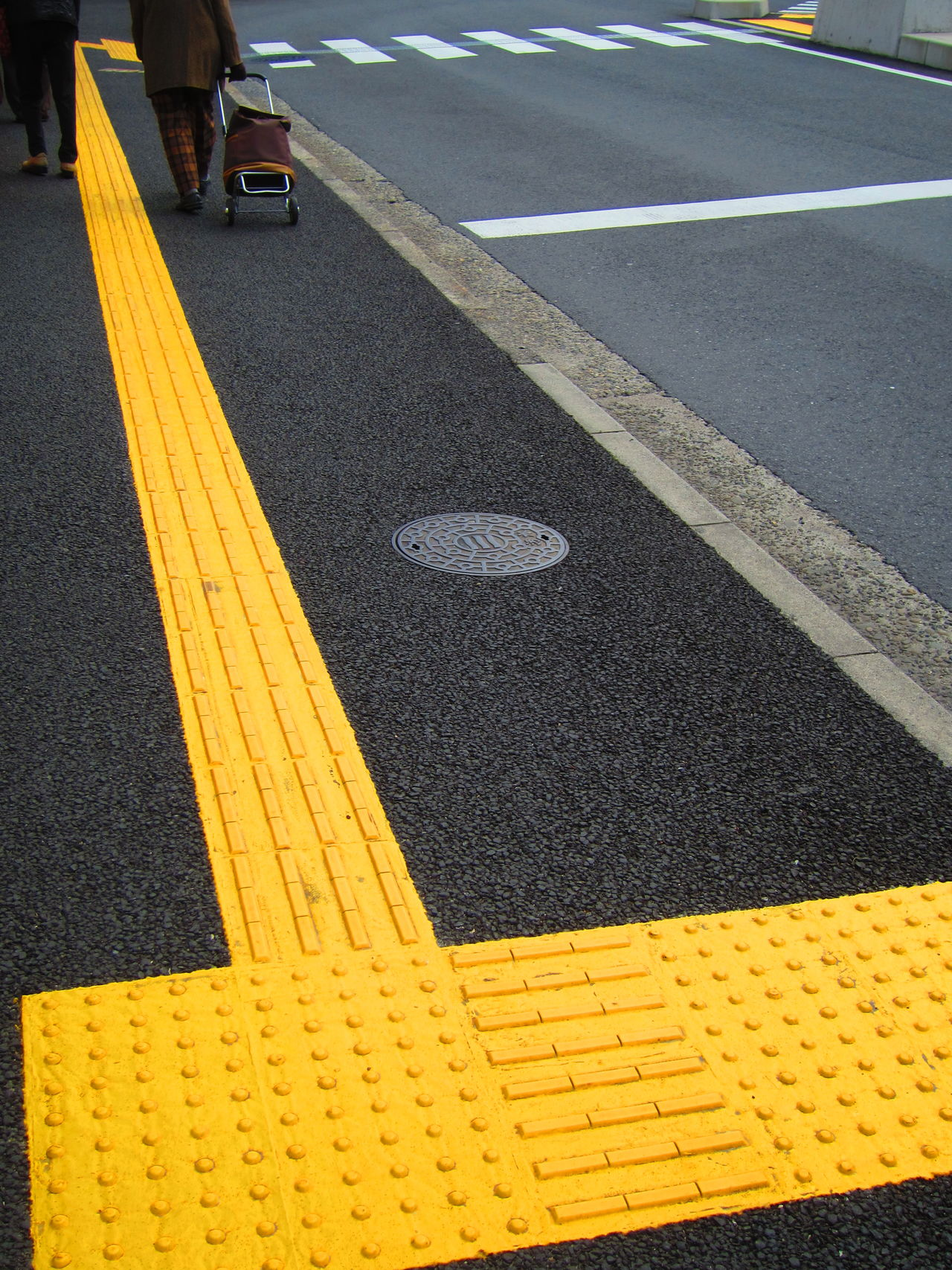 Tactile Paving Asphalt Barrier Free Blind Bright Colors Bumpy Bumpy Paving Bumpy Road Day Disability  Disability Awareness Japan Japanese Street Outdoors Road Tactile Paving Tactile Paving For The Blind Visually Impaired Yellow Color Access Disabled Access Disabled Feel Feel Your Way Let's Go. Together. EyeEm Selects
