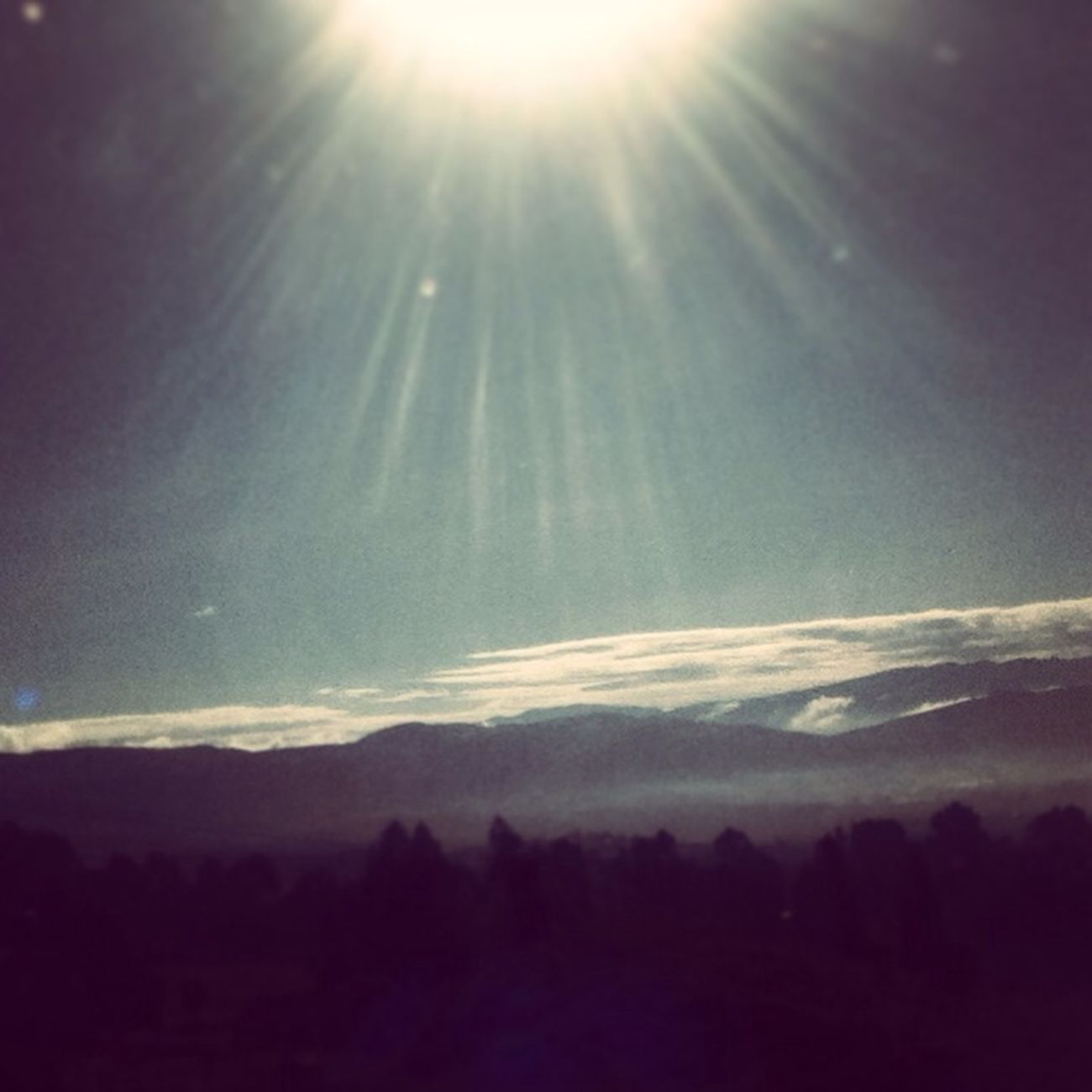 Sun And Mountains