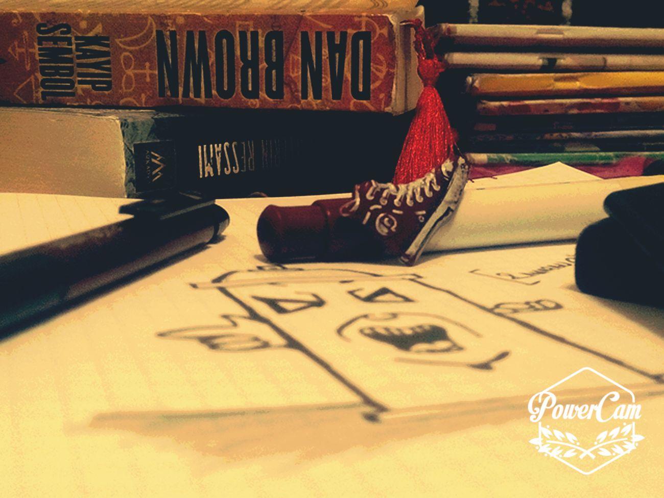 Kitaplarim kalemlerim vee cizimim :)