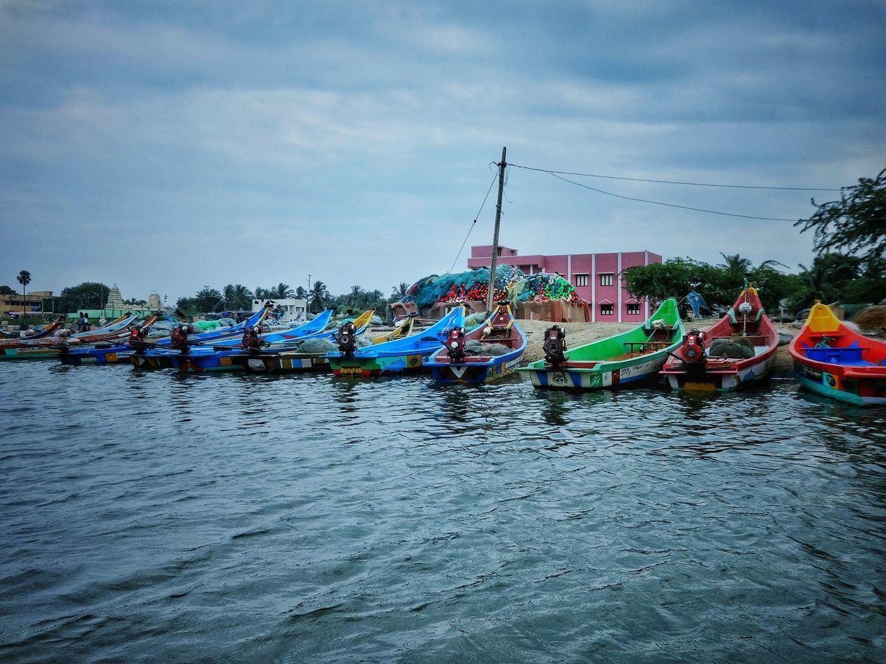 Colors of fishermen .. Boats Colorful Lake Fisherman Tamilnadu Pulicat EyeEm Best Edits Tadaa Community EyeEm Gallery Water Nature Taking Photos Check This Out EyeEm Masterclass Cool Rural Scenes Village Culture Fishing Village Fishing Boat