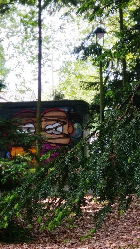 Kiekeboe! Rabbit Graffiti Kiekebusch Kiekeboe Kiekeboo Iseefaces Isee Trees And Nature