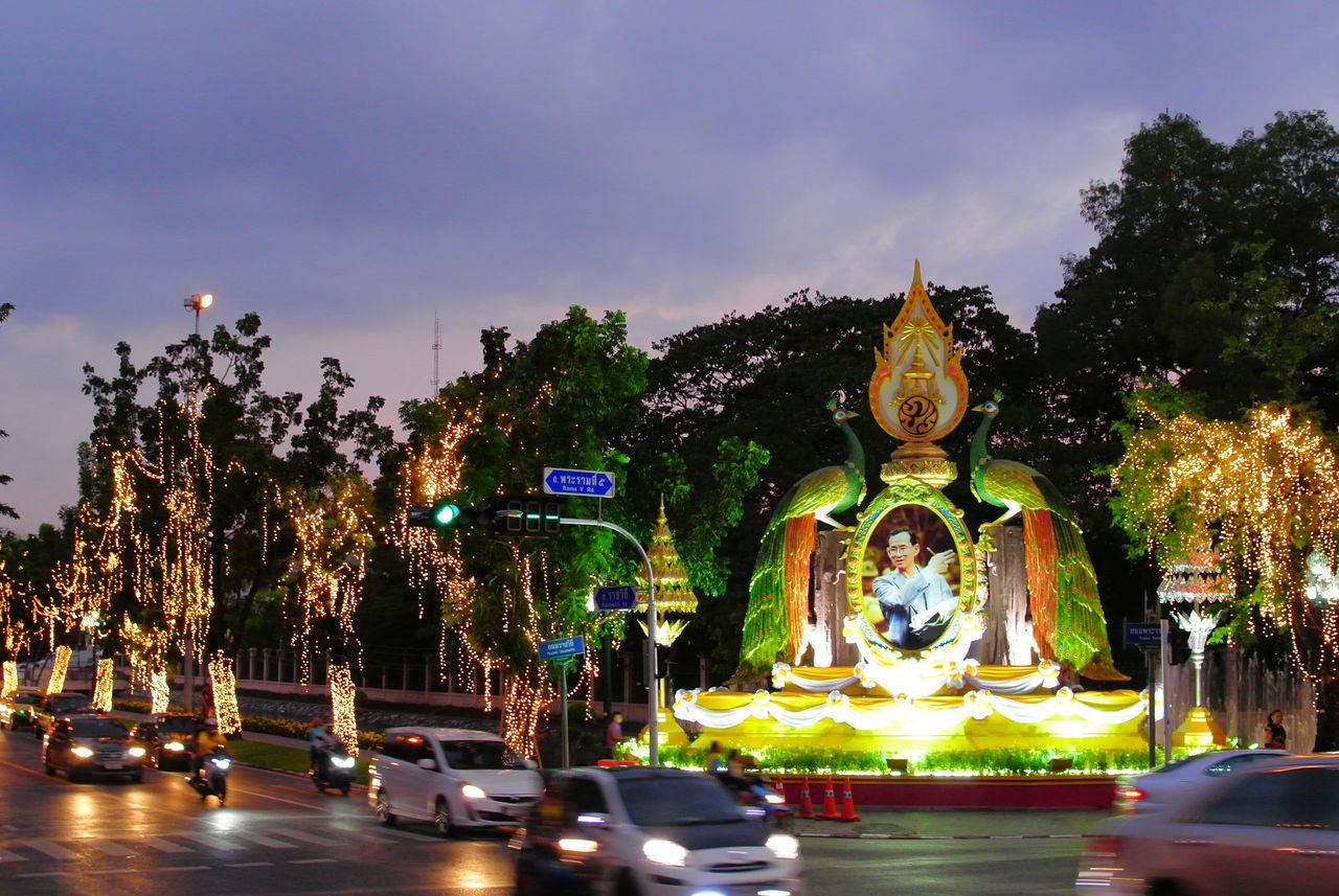 สวนจิตรลดา Architecture Building Exterior City Illuminated King Of Thailand Light Night Outdoors Street Light