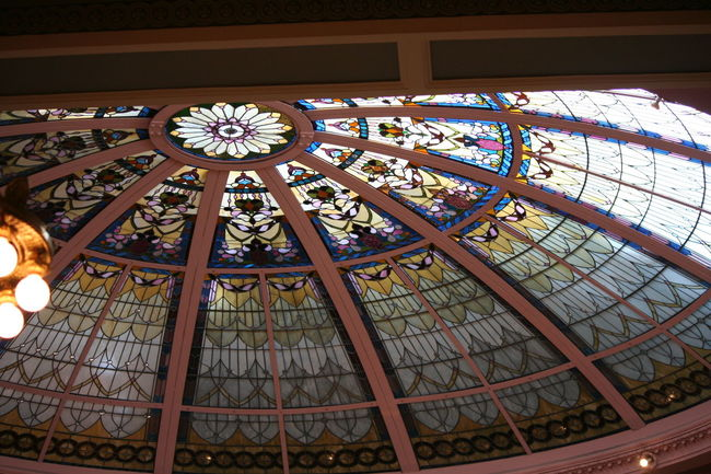 Architectural Feature Architecture Built Structure Capital Cities  Ceiling Day Decoration Design Directly Below Dome Famous Place Geometric Shape Illuminated Low Angle View No People Ornate Pattern Skylight Stained Glass The Empress The Fairmont Empress Hotel Tourism Travel Destinations