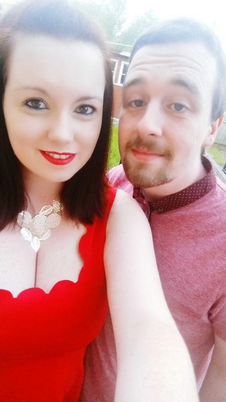 Celebrated two birthdays this weekend. Verrrrry tired today Selfie Red Lips Smile Brown Eyes Scottish Lass Paprika Nightout Boyfriend Birthday