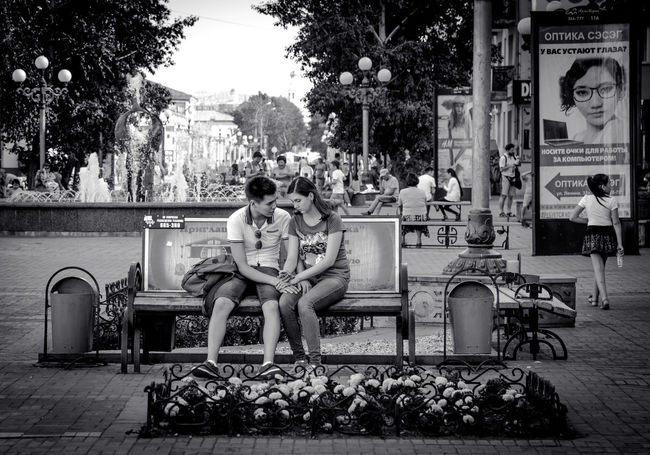 THE BENCH Ulan-Ude Streetphotography_bw Streetphoto_bw People EyeEm Bnw Bnw Eyem Best Shots - Black + White Fortheloveofblackandwhite Black & White NEM Black&white