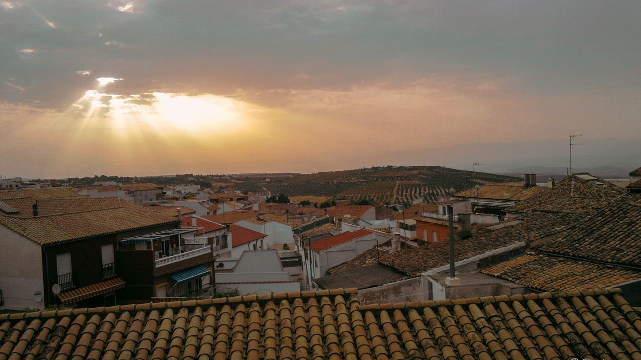 Aerial View Sunset Outdoors City No People Sky Nature Night Architecture Politics And Government SPAIN Baeza Hills Spanish Roofs Sky And Clouds Sunlight Dust Sunrise