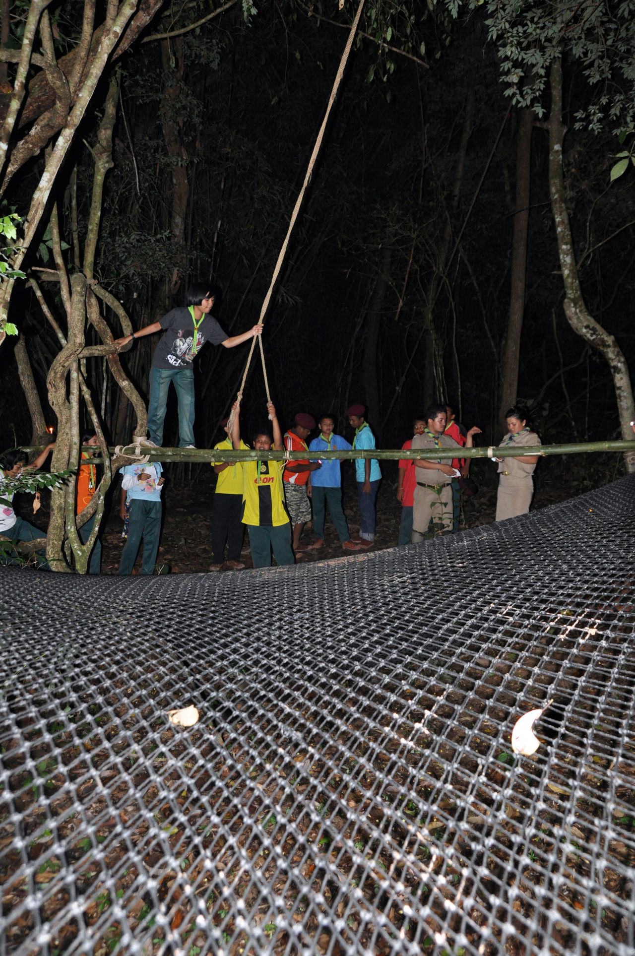 Activities Adventure Boys Camping Education Fun Girl Happy Knot Learning Life Style Nature People Pioneering Scout Scouts Skills  Student Summer Team Teamwork Tent Thai Thailand Thumb Stick