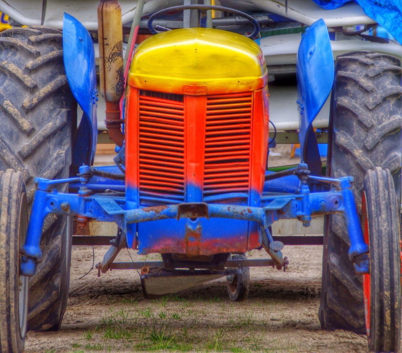 blue, transportation, no people, outdoors, day, land vehicle, close-up