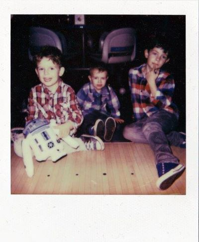 a new original polaroid - little nephews. :) Portrait Taking Photos EyeEm Best Shots Hanging Out