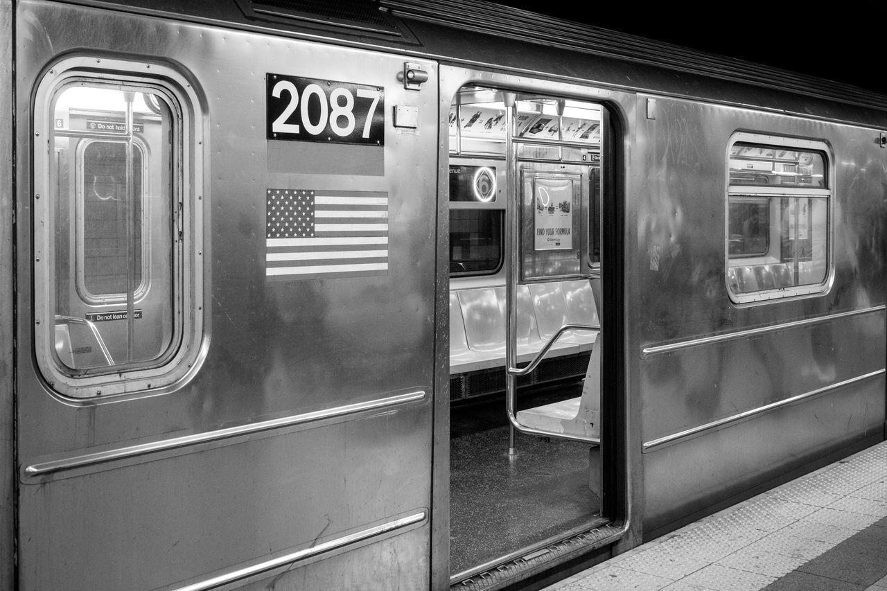 Black & White Black And White Black And White Photography Commuter Train Day Indoors  Mode Of Transport New York New York City No People Passenger Train Public Transportation Subway Station Subway Train Train - Vehicle Transportation Travel