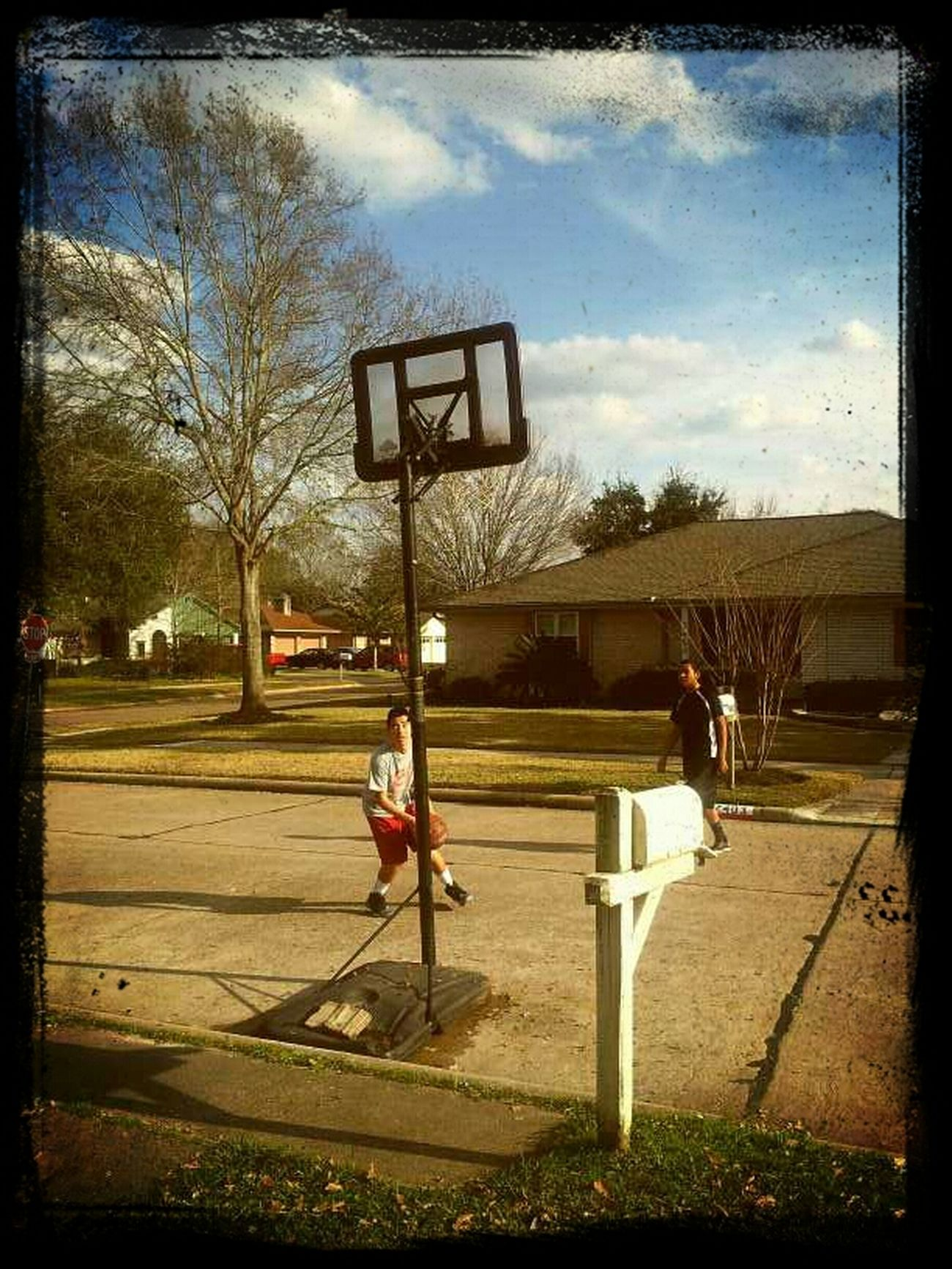 Hangin Out Shooting Hoops