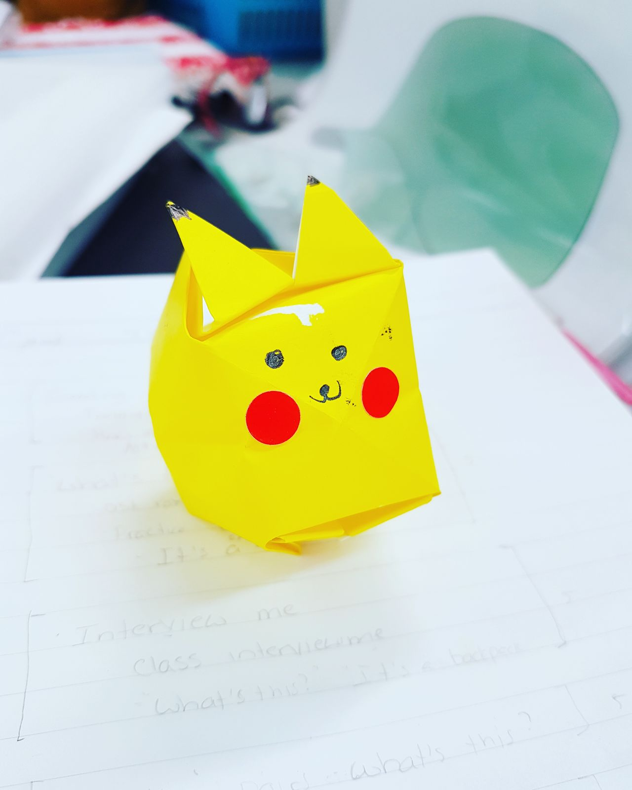 Pikachu origami Origami Pikachu Pokémon Yellow Craft Papercraft No People Close-up Indoors  First Eyeem Photo