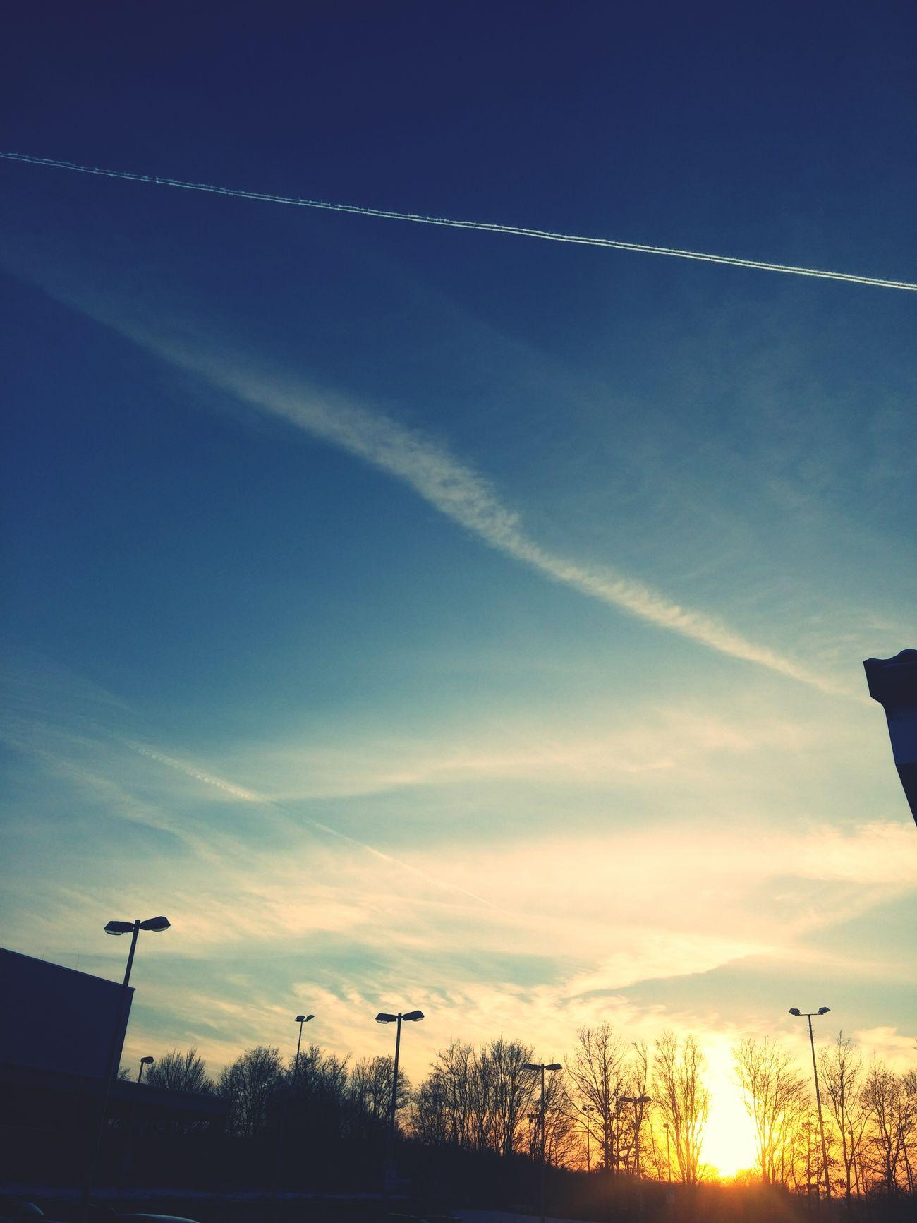 Sunset Sonnenuntergang Paderborn Germany Paderborn Upb Himmel Und Wolken Sky