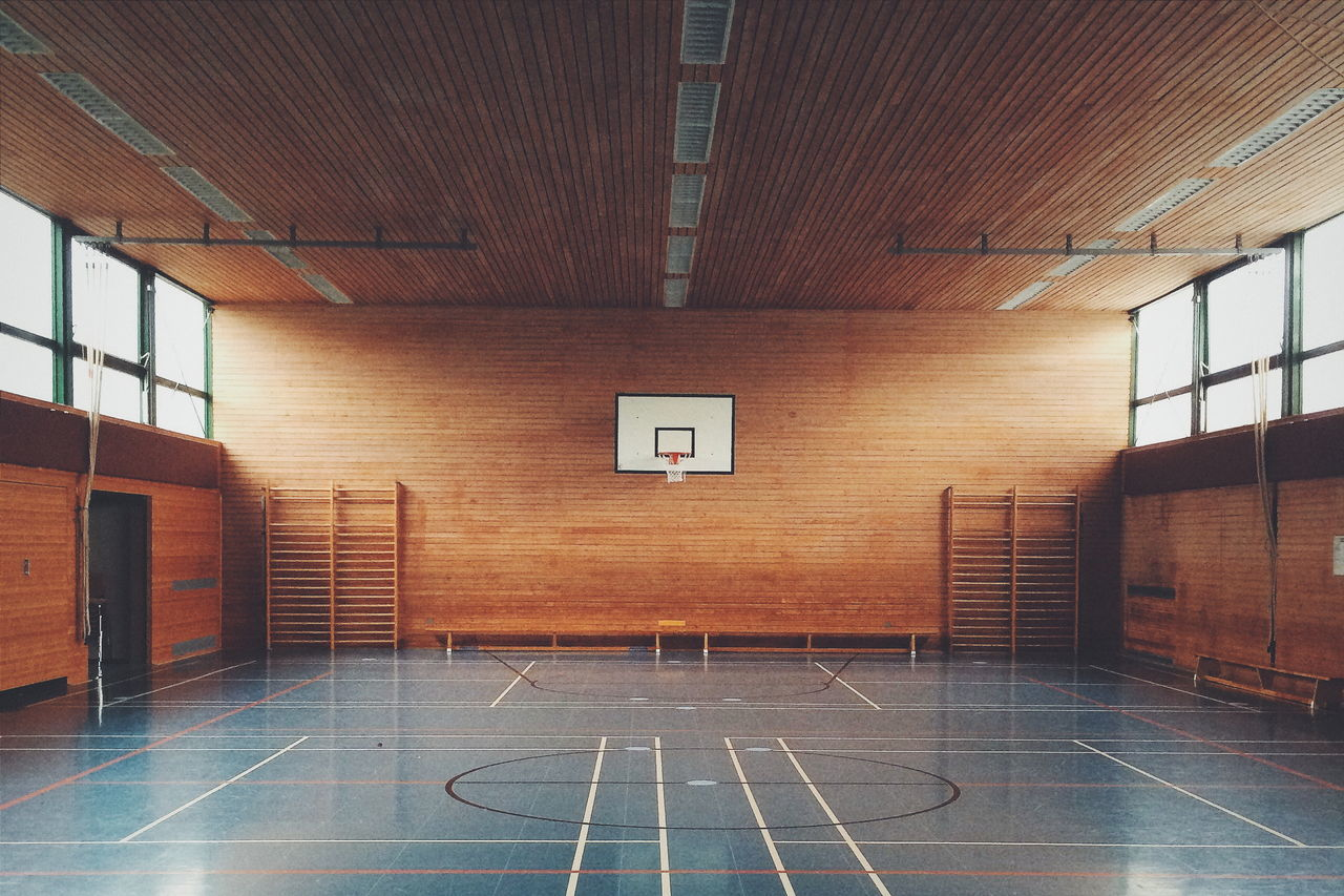 Beautiful stock photos of school, Absence, Basketball - Sport, Basketball Hoop, Ceiling