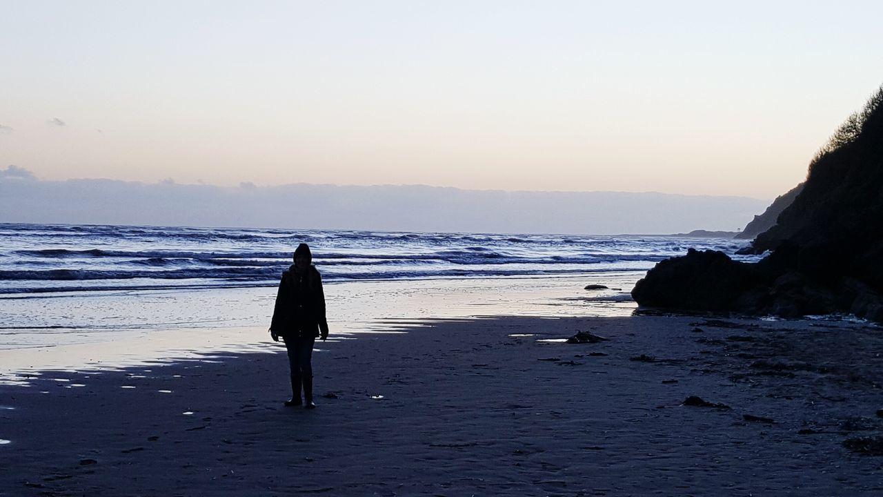 Carmarthenshire Wales Beach Walk Llansteffan Evening PhonePhotography Dusk Walking The Dog