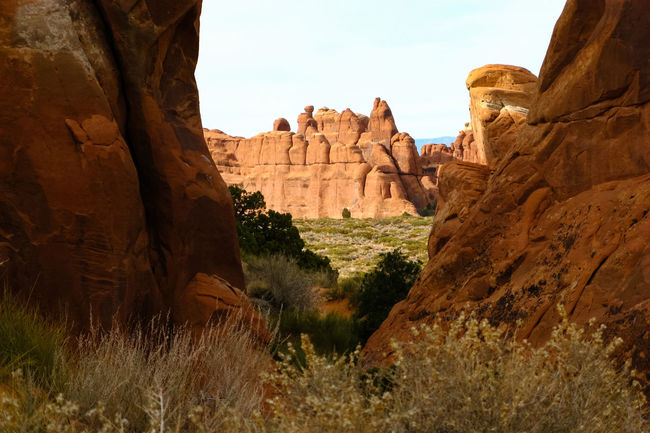 Arches National Park, Utah Beauty In Nature Eroded Geology Landscape Nature Non-urban Scene Old Old West  Outdoors Physical Geography Remote Rock - Object Rock Formation Rocky Mountains Sandstone Scenic Landscapes Scenics Eroded Rocks The Old West Arid LandscapeTranquil Scene Tranquility Arches National Park Wind Erosion