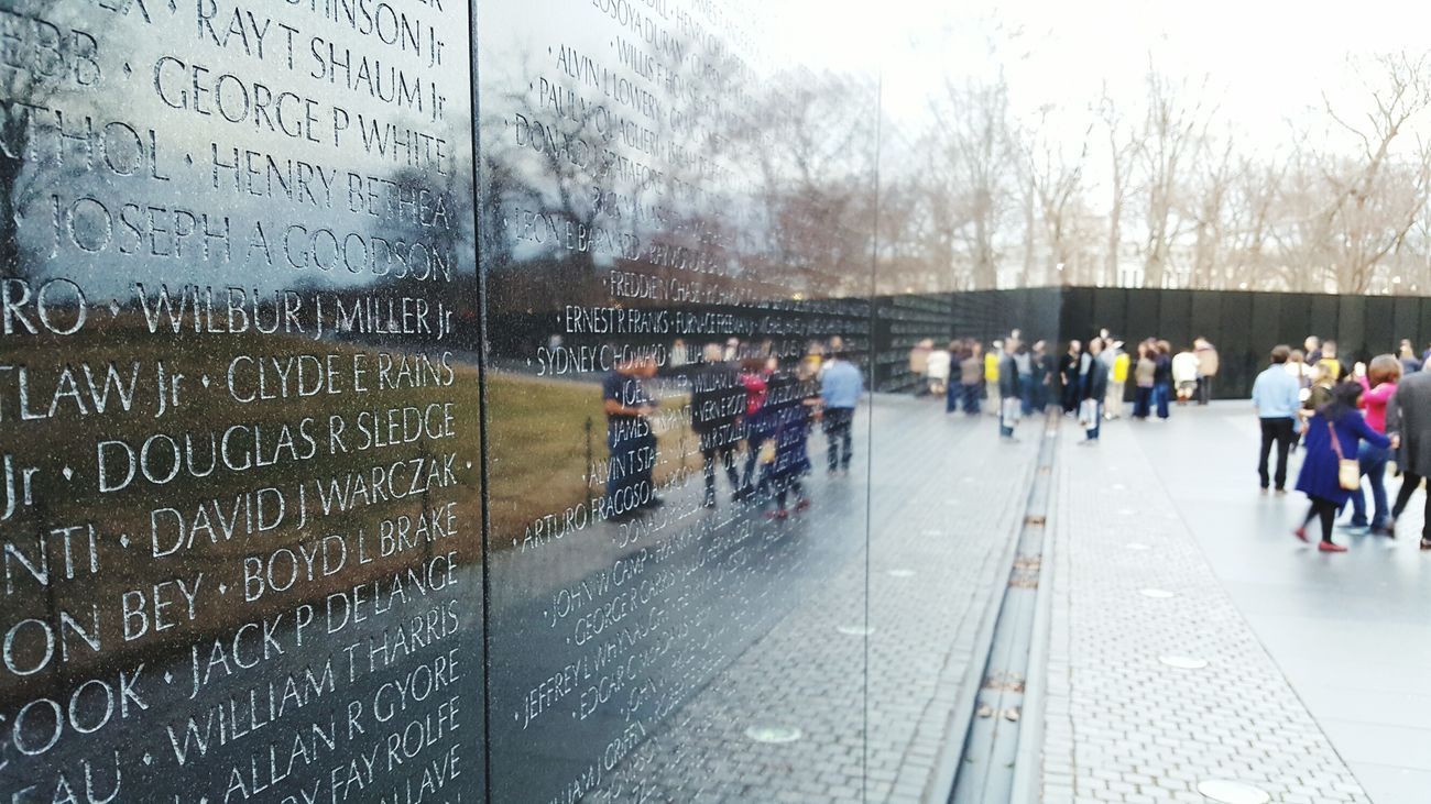 Honored to lay eyes on a masterpiece Vietnam Veterans Memorial Washington, D. C. Maryland