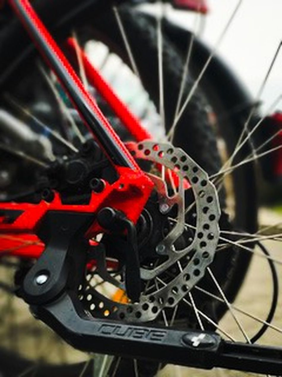 Bicycle Close-up Day Gear Mode Of Transport No People Outdoors Pedal Red Spoke Sport Tire Transportation Vehicle Part Wheel