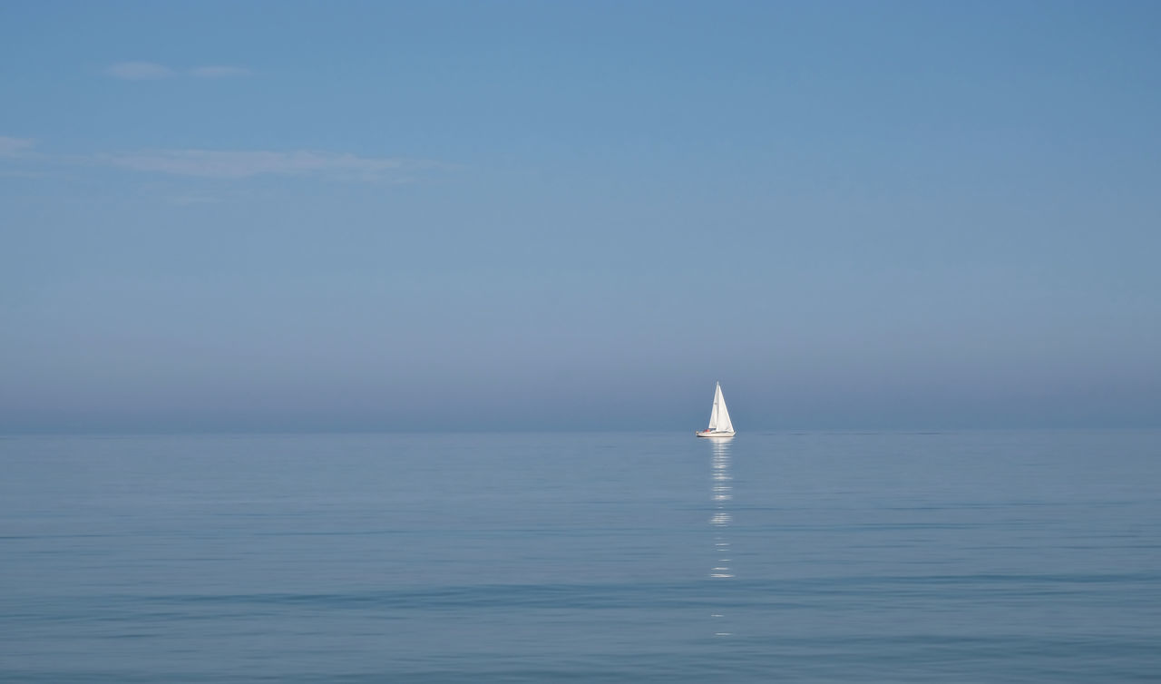 Beauty In Nature Blue Clear Sky Day Horizon Horizon Over Water Leisure Activity Nature Nautical Vessel No People Ostsee Ostseebad Dahme Outdoors Reflection Sailboat Sailing Scenics Sea Sky Summer Tranquil Scene Tranquility Vacation Water Yachting