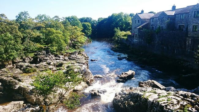 Linton Falls Yorkshire Dales Yorkshire Grassington Linton River Flowing Water Flowing Scenics Riverbank Nature Water Waterfalls Water Falls Tranquil Scene Building Exterior Tree Outdoors Tranquility Non-urban Scene
