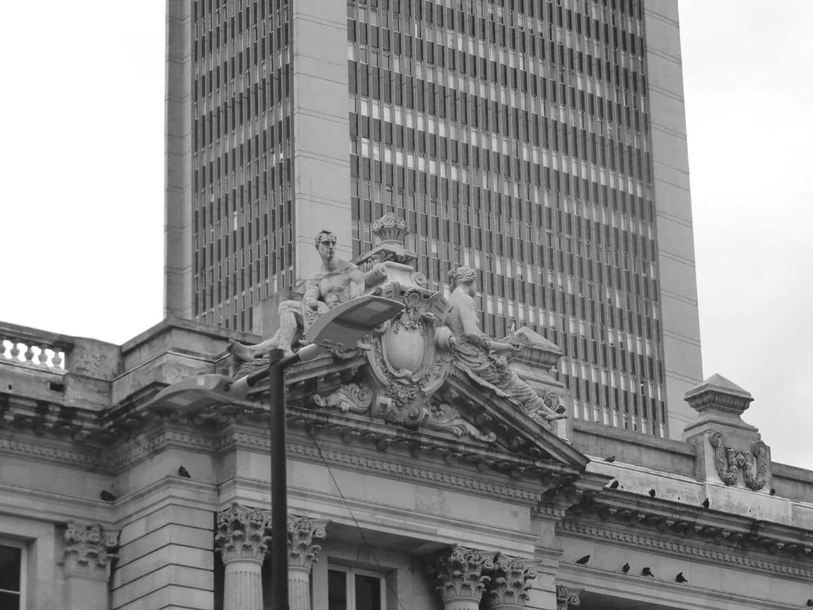 Bogota,colombia. Architecture Avianca Architecture Building Exterior Built Structure City Statue Skyscraper Sculpture Travel Destinations Modern Art And Craft Tall - High City Life Tower Office Building Sky Day Building Story Outdoors Famous Place Monument First Eyeem Photo People And Places