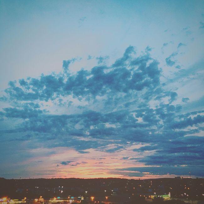Clouds Saint John Sunset Blue Sky Hill IPhoneography