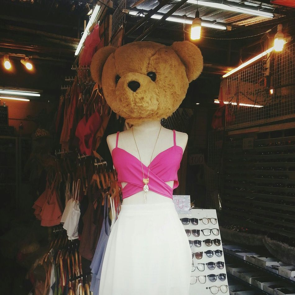 RePicture Travel creative mannequin Weirdography Mannequin Creativethailand Weird Spotted In Thailand Chatuchak Bear HEAD