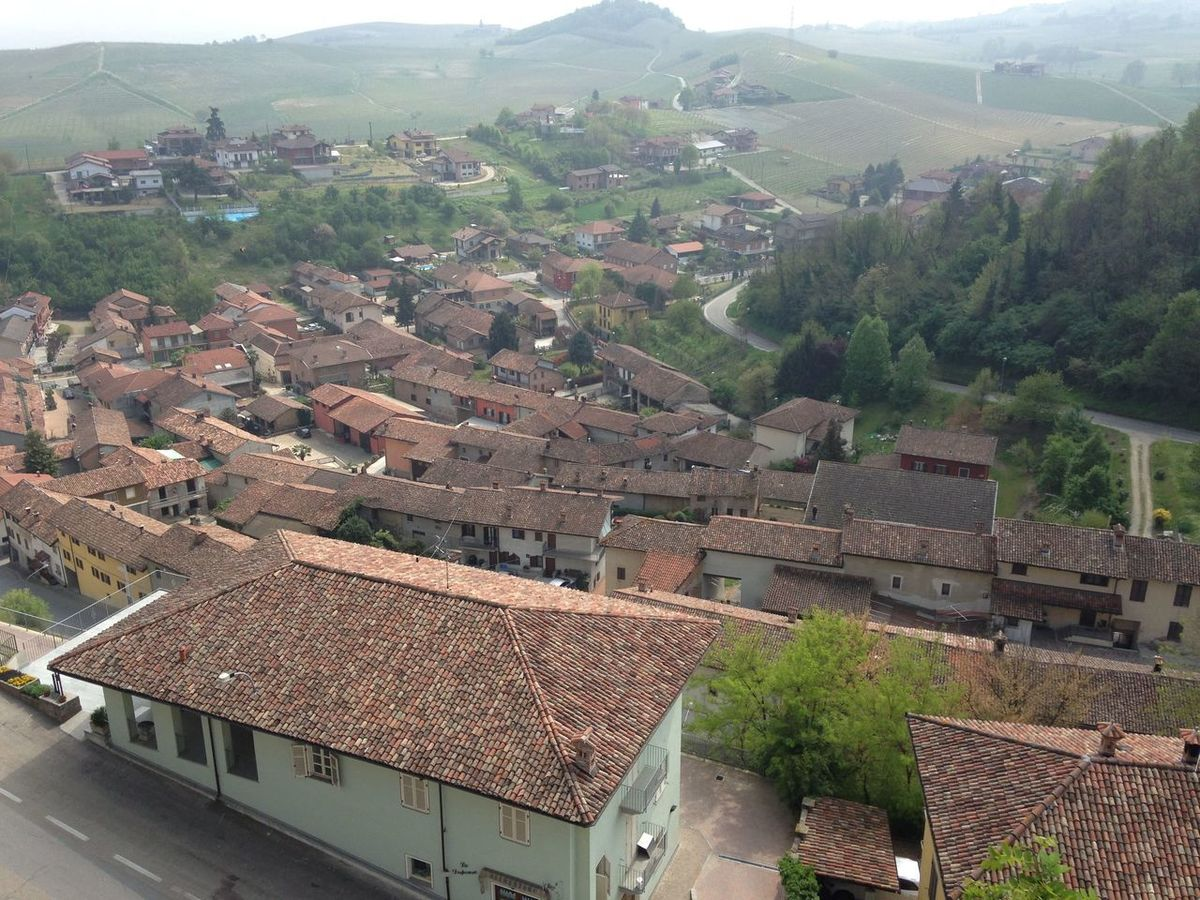 Italian Countryside Architecture Asti Italy Day High Angle View Outdoors Tiled Roof  Village