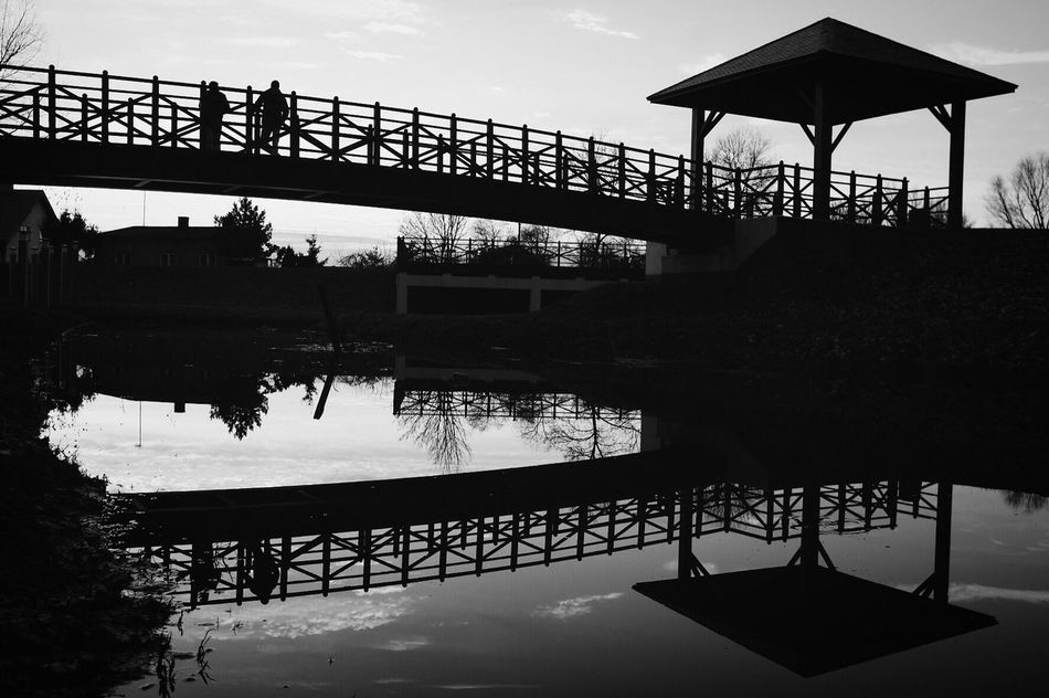 Reflection Water Sky Built Structure Outdoors Bw_collection Black And White Monochrome Street Photography Silhouette