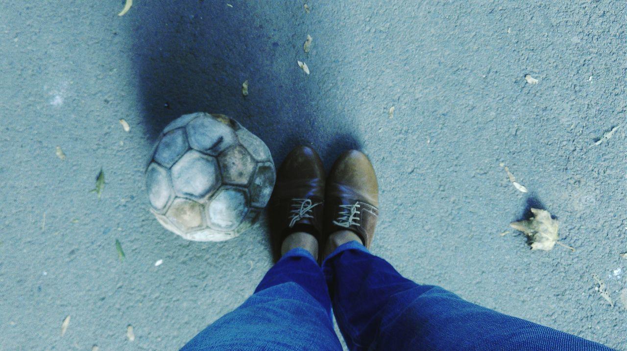 Beautiful stock photos of soccer balls, Day, Human Body Part, Human Leg, Jeans