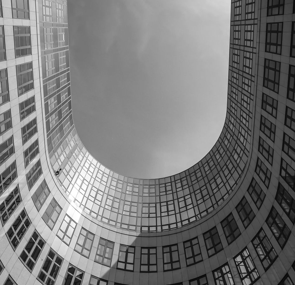 Architectural Feature Architecture Architecture Architecture_bw Architecture_collection Backgrounds Black And White Bogen Building Built Structure Capital Cities  Design Fenster Geometric Shape Kurve Low Angle View Modern No People Office Building Repetition Rundbogen Tall - High The Architect - 2016 EyeEm Awards Windows