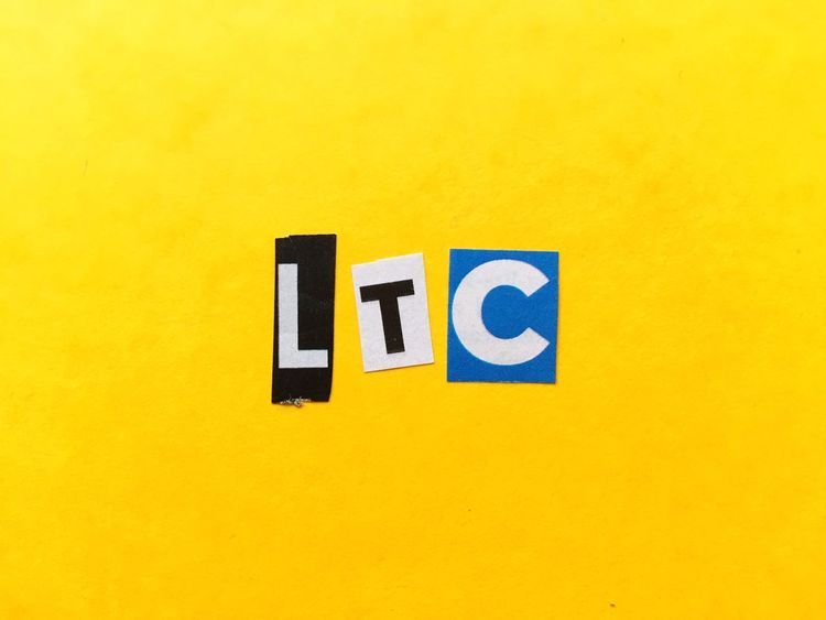 Premium Collection Outdoors Day Blue Built Structure No People Communication Yellow Litecoin LTC