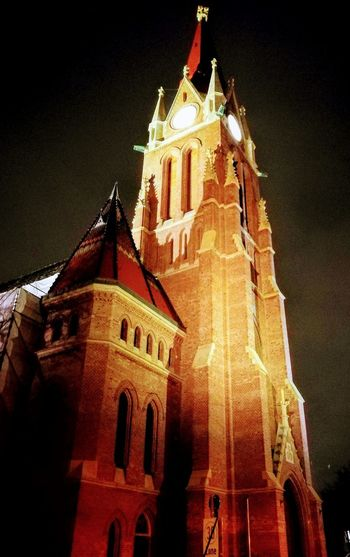 spooky Breitensee Architecture Building Exterior Night Built Structure Low Angle View History No People Place Of Worship