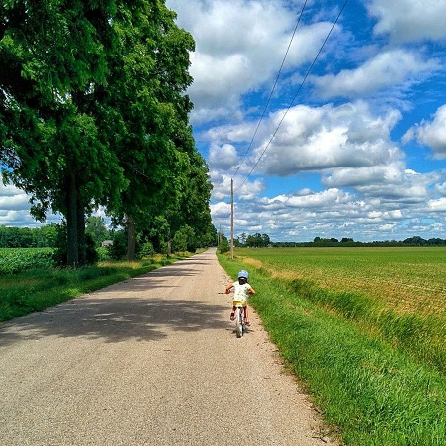 Bike ride in the country. Cycling Middlesex Centre Ontario Canada