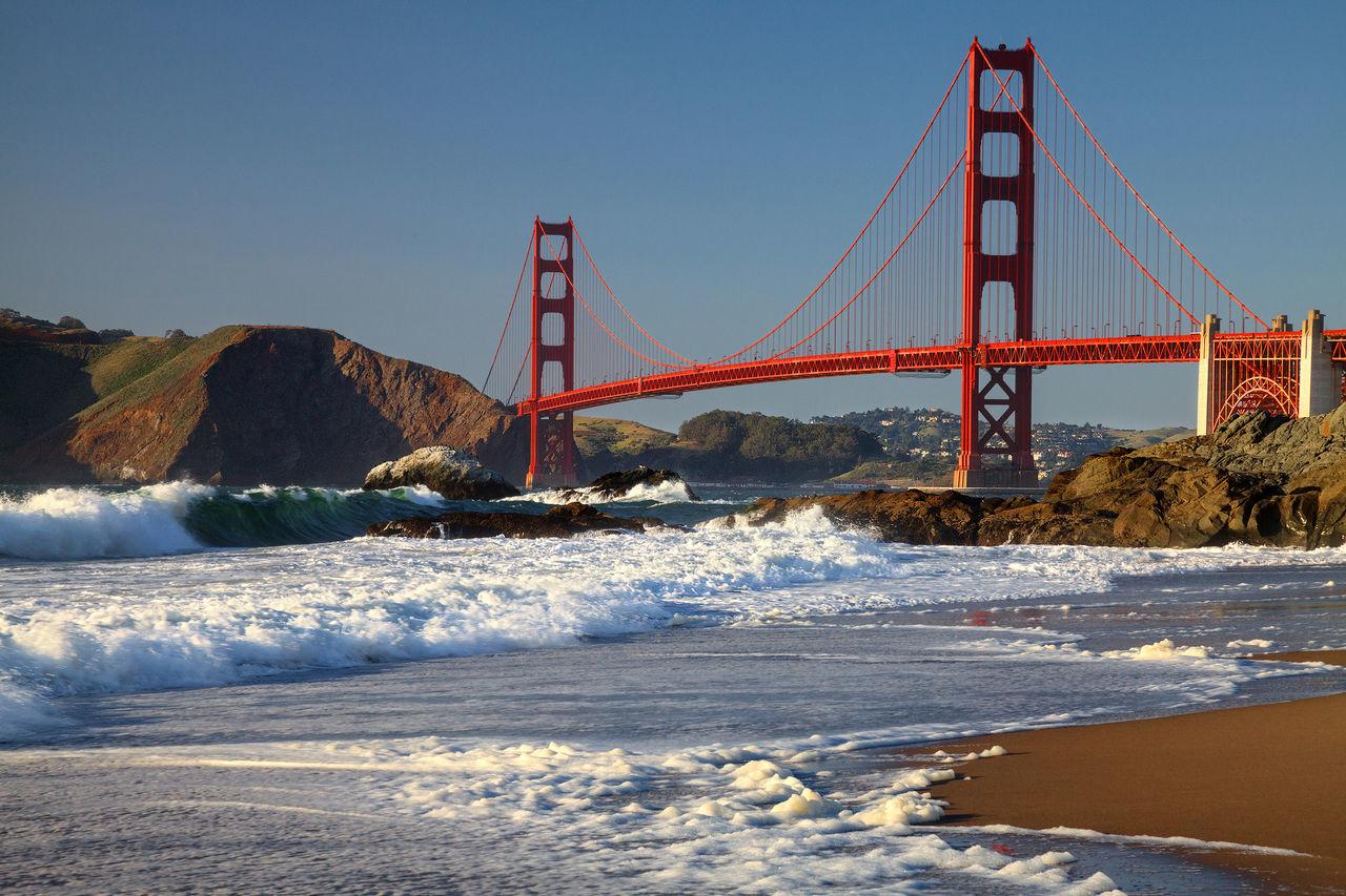 GGB Architecture Bay Area Beauty In Nature City Golden Gate Bridge Sea Sky Suspension Bridge Travel Destinations Water