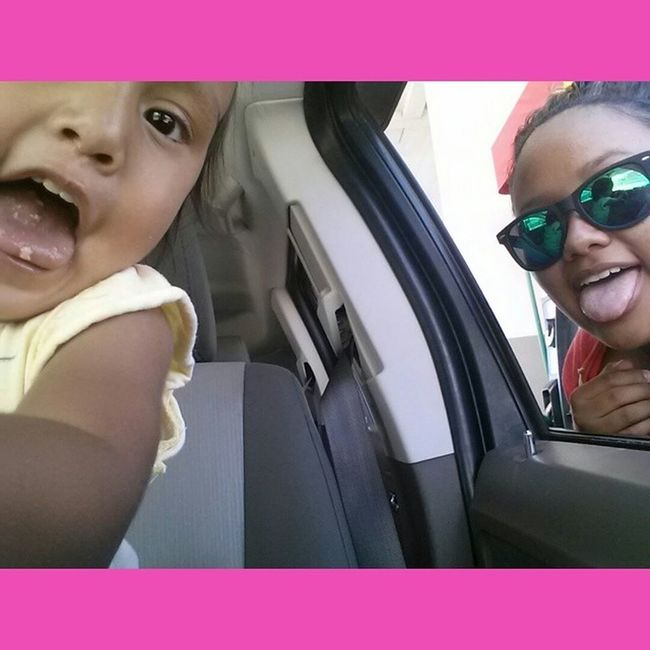 Selfie all day with this little girl ? ZanaBana LaZandraAndLaZana Loveher Sister MyWorld