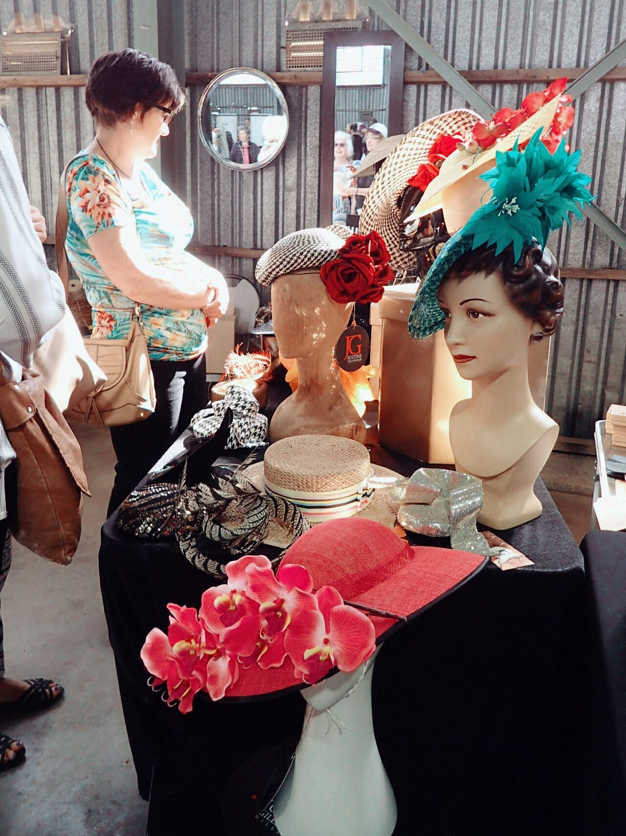 "Live Love Shop Live Love Shop ""Hats are like perfume : they should complement your style, not work against it. ""~ Unknown Millinery Milliner Hatter Hatters Hatshop Hatshop Window Display Strawhats Funchal Madeira millinery shop Community Market Redhill Australia Victoria Shopping Time Shopping ♡"