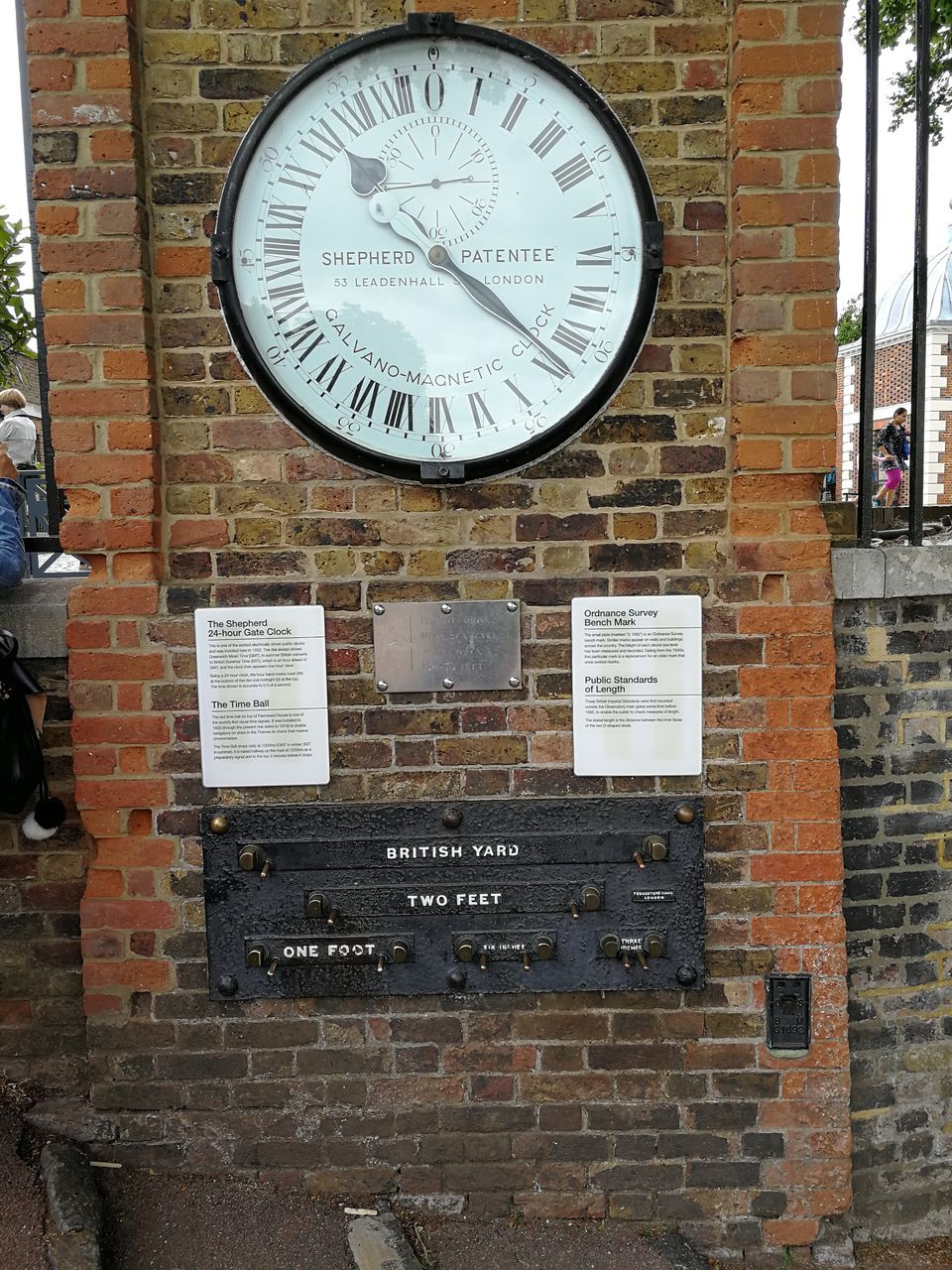 brick wall, clock, time, architecture, text, built structure, communication, no people, day, building exterior, outdoors, clock face, close-up, minute hand