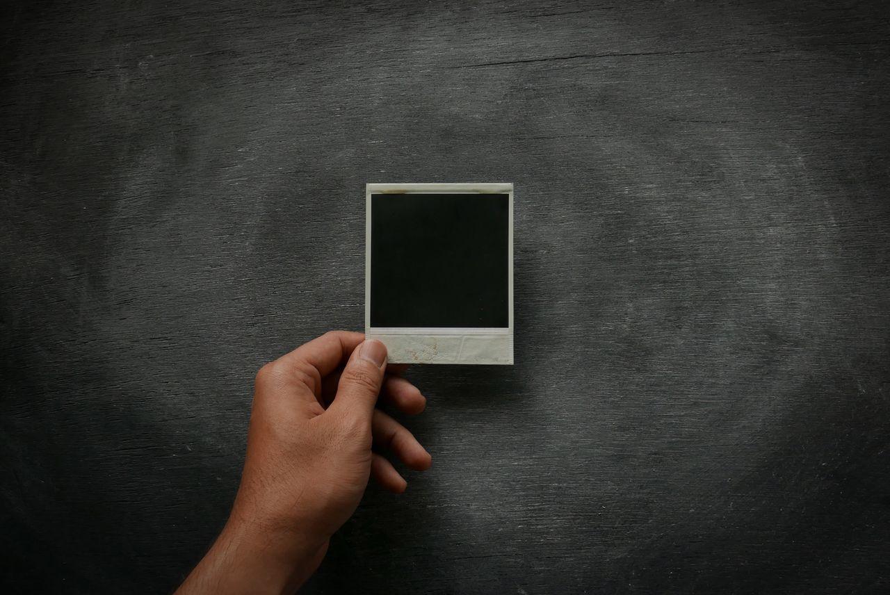 Empty Polaroid Minimal Minimalism Memory Polaroid Hand Vintage Retro