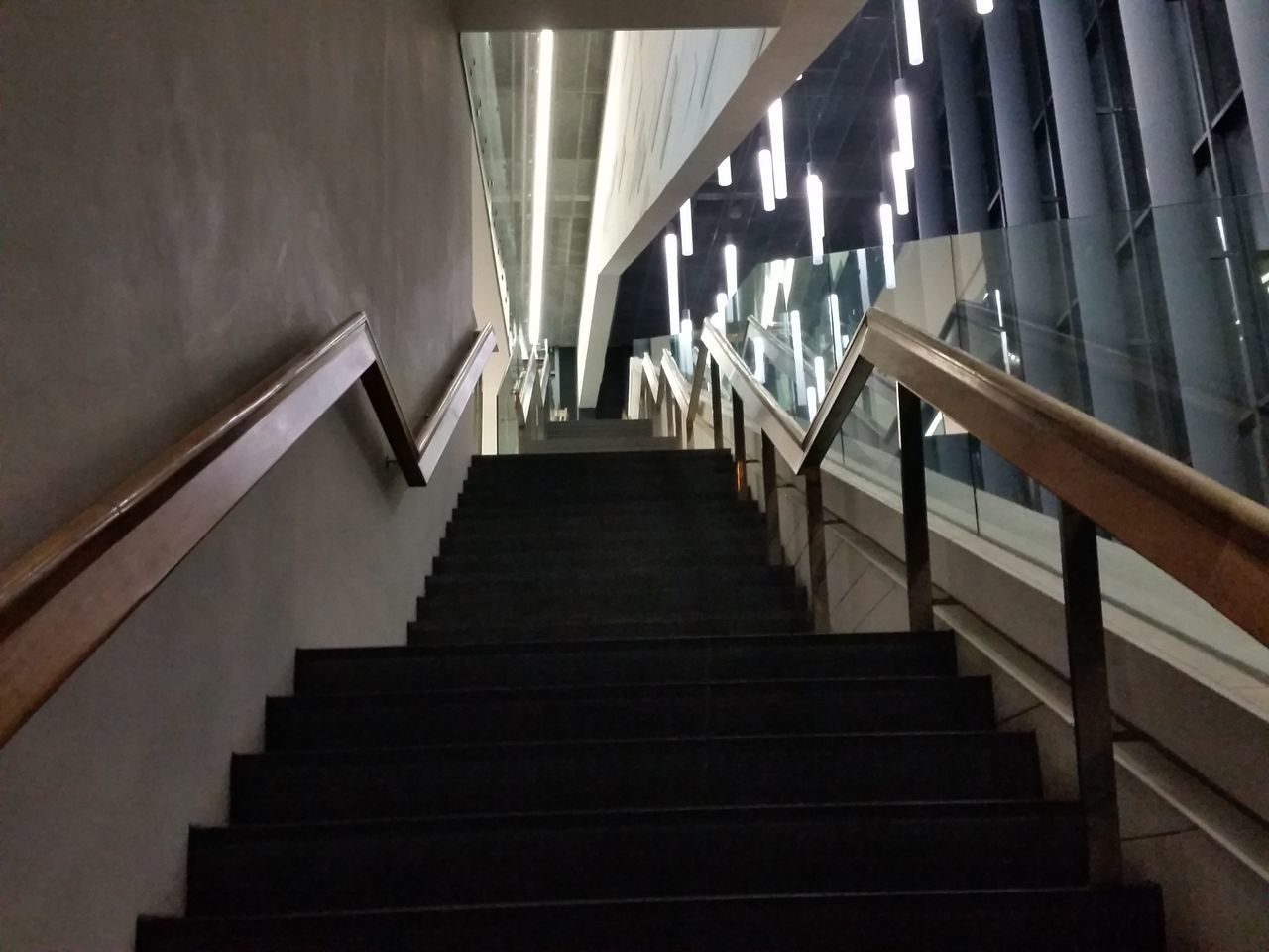 Staircase Steps Steps And Staircases Railing Indoors  Architecture The Way Forward Built Structure No People Low Angle View Day