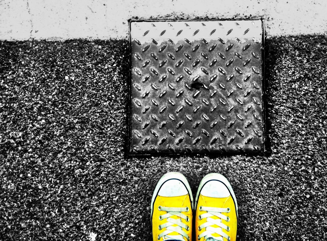 Beautiful stock photos of metal, Canvas Shoe, Cover, Directly Below, Isolated Color