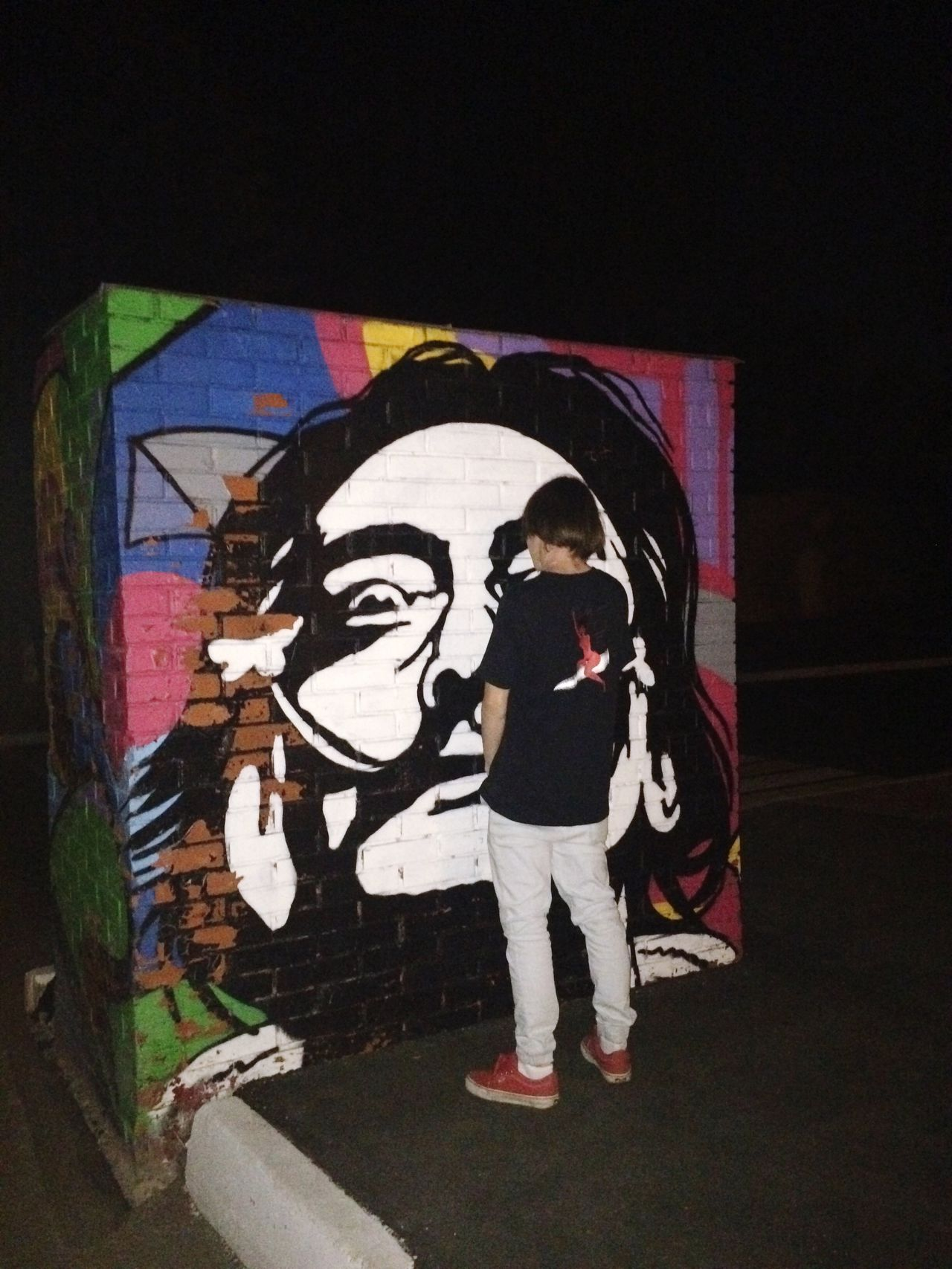Graffiti Lifestyles Art Full Length Night Creativity Salvador Salvador Dali Salvadordali Wall First Eyeem Photo