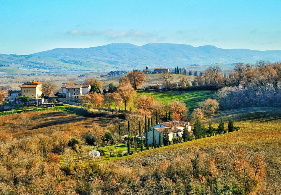 """""""Bella Toscana"""" - Bagno Vignoni Italy Photobydperry Sky Mountain Nature Scenics Beauty In Nature No People Agriculture Outdoors Day Historical Place Travel Destinations Travel Bagnovignoni Italia Toscana Toscana ıtaly"""
